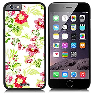 CocoZ® New Apple iPhone 6 s 4.7-inch Case Beautiful flower pattern PC Material Case (Black PC & Beautiful flower 9)