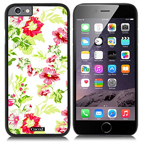 CocoZ® New Apple iPhone 6 s 4.7-inch Case Beautiful flower pattern PC Material Case (Black PC & Beautiful flower - Louisville Sunglasses