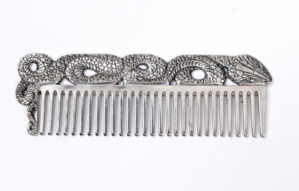 Silver Hair comb ''Snake''