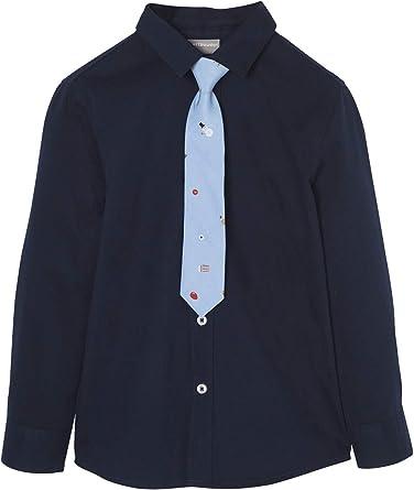 VERTBAUDET Camisa y Corbata niño Especial Navidad Azul Oscuro ...