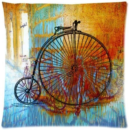 Vintage hobmres película pesadilla antes de Navidad para bicicleta cuadrado decorativo funda de almohada con cremallera manta funda para cojín de 18 x 45,72 cm: Amazon.es: Hogar