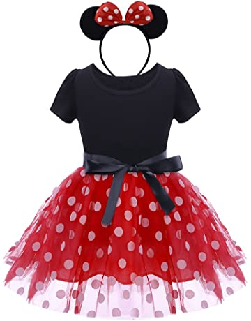 e85ee518b IWEMEK Infant Baby Toddlers Girls Christmas Polka Dots Birthday Princess  Bowknot Tutu Dress Halloween Xmas Cosplay