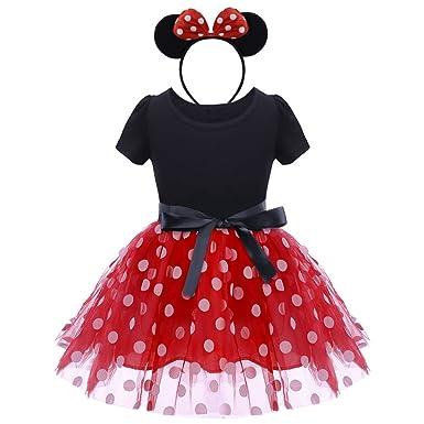 a9c781f28 Infant Baby Toddlers Girls Christmas Polka Dots Leotard Birthday Princess  Bowknot Tutu Dress Halloween Xmas Cosplay
