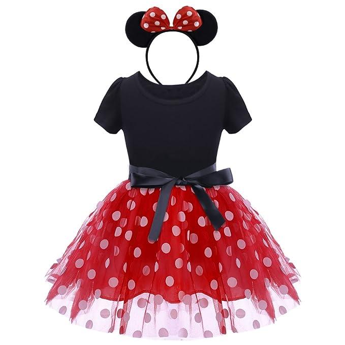 c6b0e07d40 Bebé Niña Vestido de Fiesta Princesa Disfraces Tutú Ballet Lunares Fantasía  Vestid Carnaval Bautizo Cumpleaños Baile