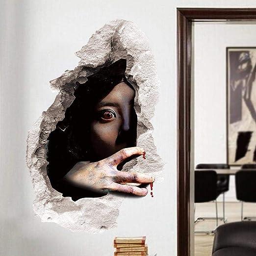 Amazon.com: Elevin(TM) Halloween 3D Self Adhesive Wall Stickers ...