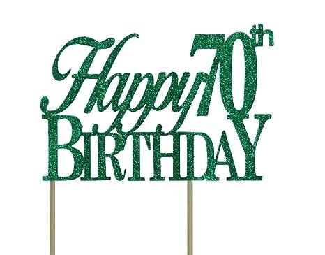Amazon.com: Decoración para tarta de cumpleaños número 70 ...