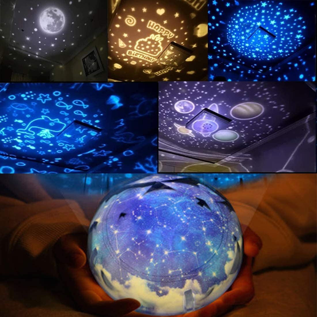 Star Night Lights Gifts for Kids Age 3-10, Constellation Stars Projector Lamp Novelty Nursery Night Light for Boys Girls Bedroom Kids' Room Decor Lamps 3 4 5 6-10 Year Old Boy Girl Toy Mother Day Gift
