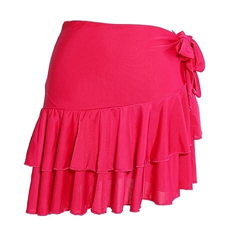 Wanson Las Mujeres Clásicas Danza Latina Falda Cuadrada Vestido De ...