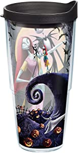Tervis 1165911 Tumbler with Lid, Jack Skellington and Sally welcome the holidays in this Disney A Nightmare Before Christmas design that keeps your drinks from going all Oogie Boogie. , Black