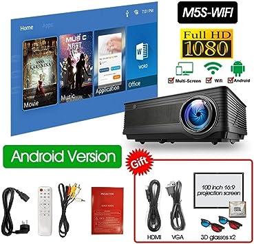 FANGLING-projectors HD M5 M5W Proyector Full HD 1080P 4K 5500 ...
