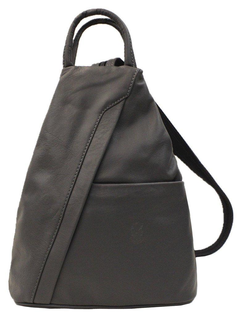 Soft Italian 100% Leather Shoulder Bag / Backpack - PM24 (Black):  Amazon.co.uk: Shoes & Bags