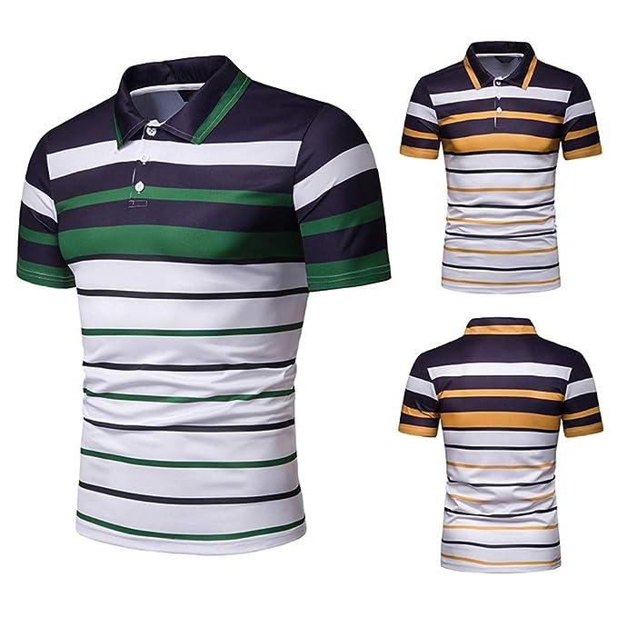 Kurzarmhemd Sweatshirt T-Shirt Herrenhemden Marken Polohemden Celucke Polohemd Poloshirt Gestreift Herren Poloshirt M/änner Basic Hemd Polo Shirt Kurzarm Slim Fit