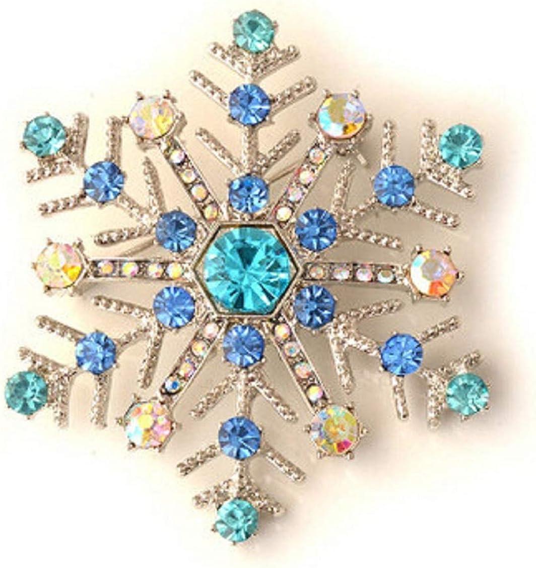 Shimigy Stylish Elegant Christmas Snowflake Brooch Gift for Women