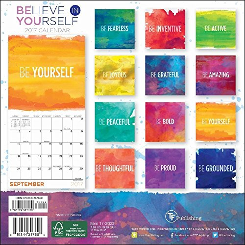 Believe in Yourself 2017 Small Wall Calendar