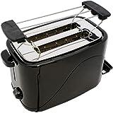 Toaster COOK 4 YOU schwarz mit Brötchenaufsatz 700 W 2 Schei