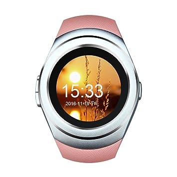 Kivors Smartwatch, Reloj Inteligente Con Ranura Para Tarjeta SIM Podómetro de Seguimiento de Actividad Monitor de Sueño, Notificaciones de Control de Cámara ...
