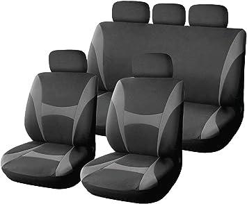 5x sedili coprisedili grigio rivestimenti già riferimento poliestere di alta qualità universale