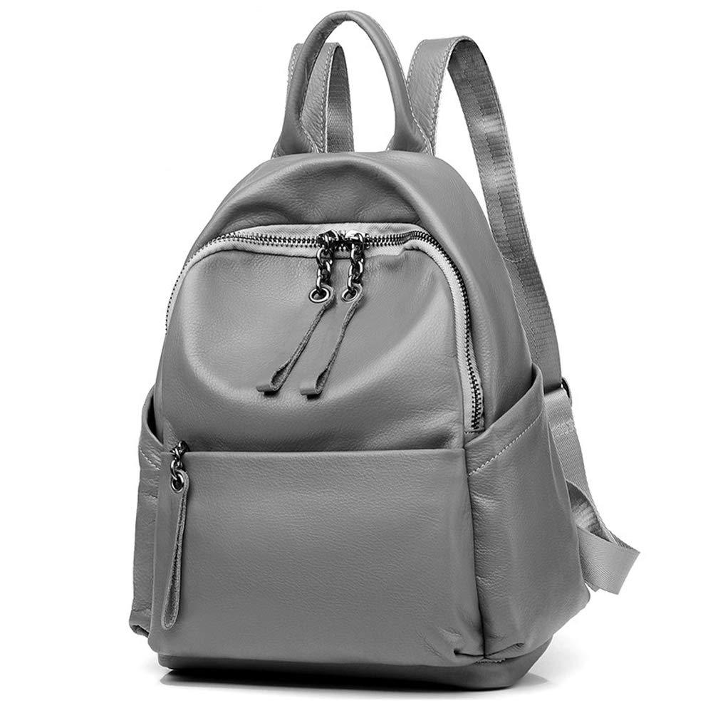 G&L レディース バックパック 財布 レザー ファッション 旅行 カジュアル 取り外し可能 クロスボディ レディース ショルダーバッグ 旅行バッグ USB充電ポート付き  グレー B07N2NVKGT