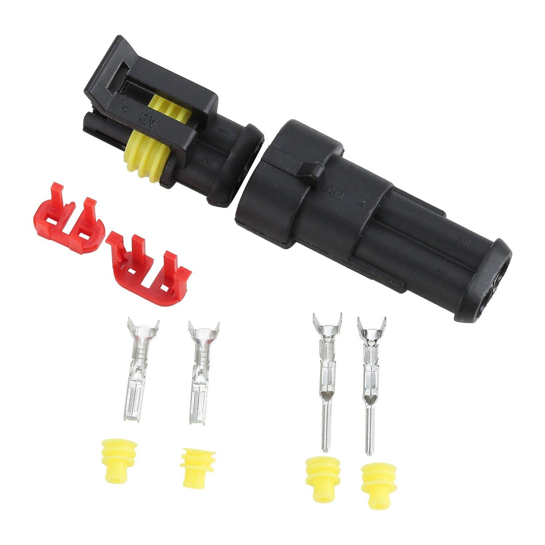 Fafada 10 Kit Connecteur Prise Imperméable Etanche 2.5mm 2 Canaux 10 A Pour Voiture Bateau Camion
