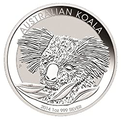 NOW IN STOCK and ready to ship for holiday gift giving! The popular 2014 Silver Koala from the Australian Mint! This beautiful 1 oz. silver coin comes to you in an protective snap-close plastic capsule. Order enough to have on hand for gift giving th...