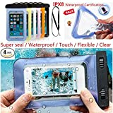 NutraTek Universal Waterproof Case Waterproof Phone Pouch Dry Bag for iPhone7/7plus/6s/6/6s plus Samsung galaxy s8/s7 LG V20 Google, No Risk 30 Day