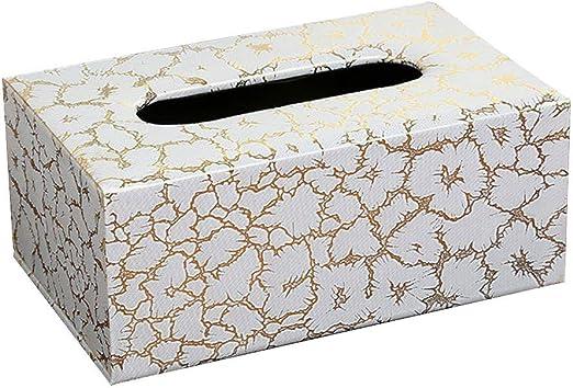 Meilandeng Portapañuelos de Papel Sorteo Caja Europea Inicio Creativo Tejido Multifuncional Caja de Cuero Tejida a Mano Caja de Almacenamiento Remoto: Amazon.es: Hogar