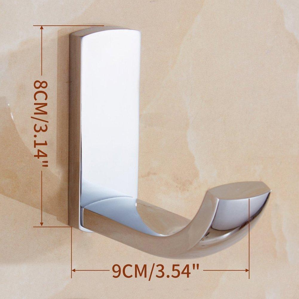 CASEWind brillante barra toallero fijación pared moderna práctica en latón Cobre acabado cromado barra soporte para toalla, Metal porte-torchons de 60 cm ...