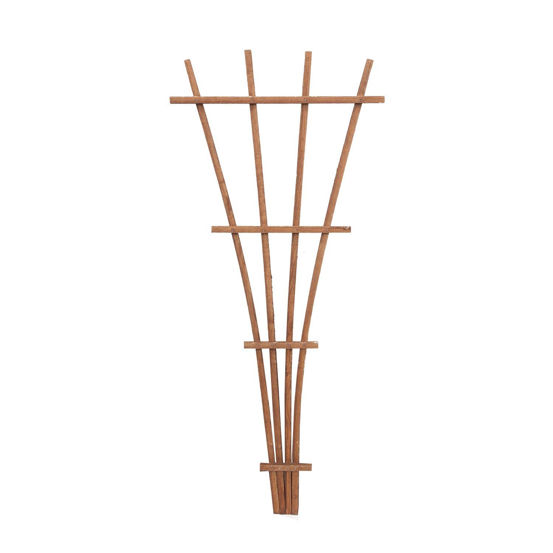 Panacea 83737 48 Brown Wood Fan Trellis