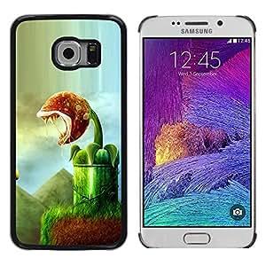 Paccase / Dura PC Caso Funda Carcasa de Protección para - Monster Plant Green Nature Rainforest Art - Samsung Galaxy S6 EDGE SM-G925