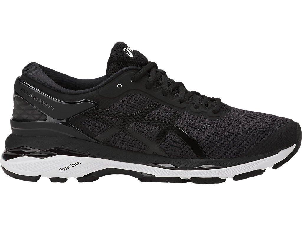 ASICS Womens Gel-Kayano 24 Running Shoe, Black/Phantom/White, 8.5 Medium US by ASICS