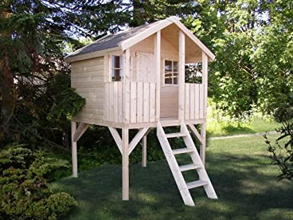 Box, casitas de madera, caseta de jardín para niños, madera de abeto,