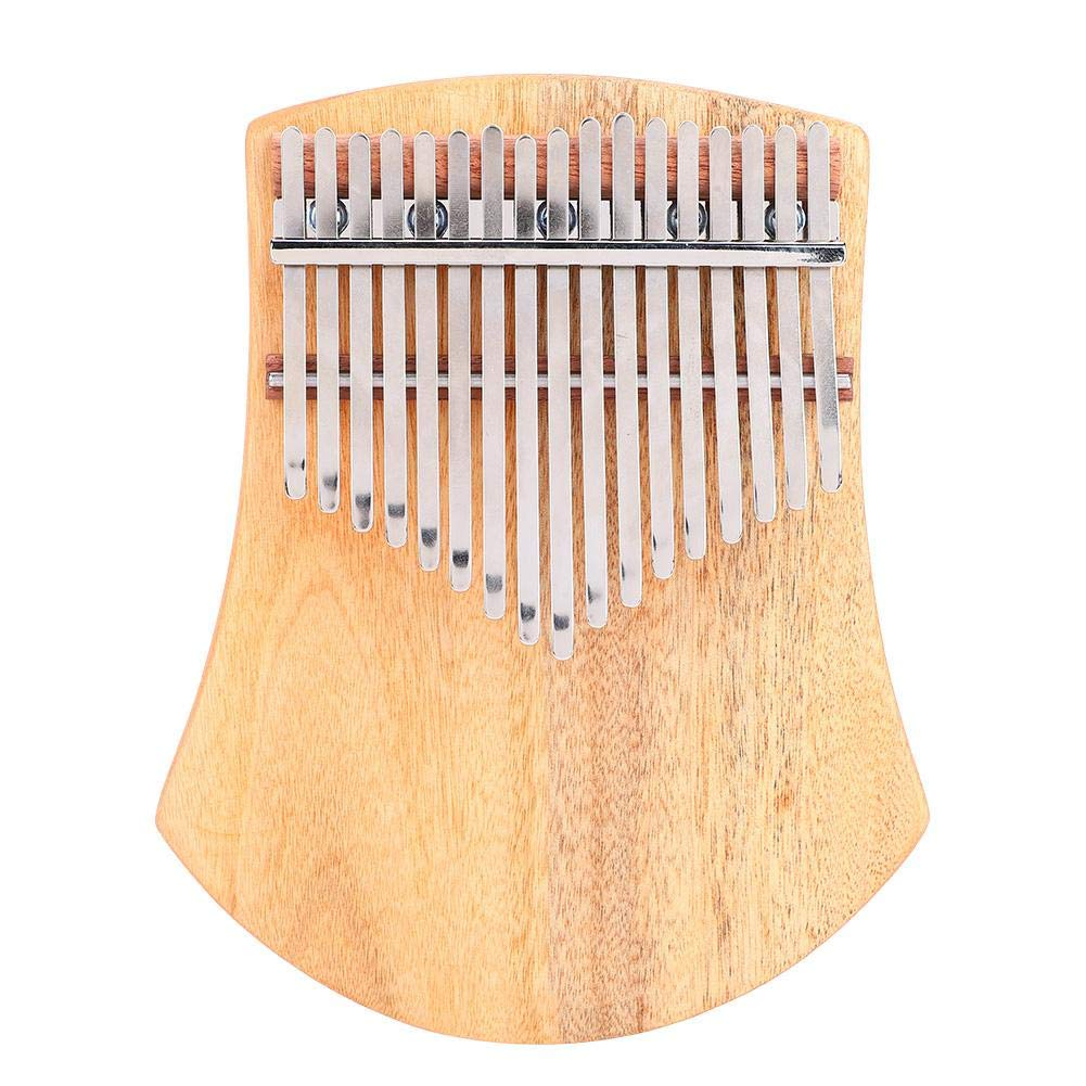 Portable Kalimba Thumb Piano, B Major 17 Keys Camphorwood Thumb Piano with Tuning Hammer K17CAS for Beginners and Specialists by Dilwe