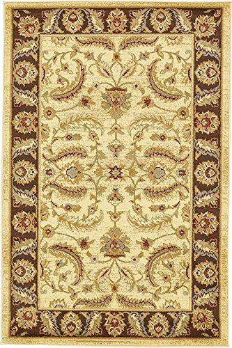 Unique Loom 3132984 Area Rug, 4' x 6', Cream (Agra Collection)
