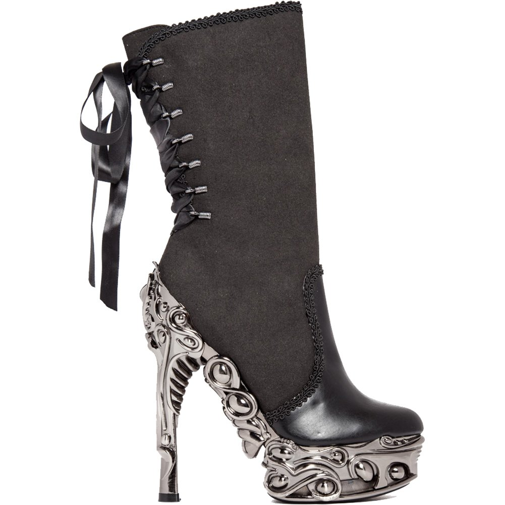Hades ANALIA High Heel Boot Black/Silver 8
