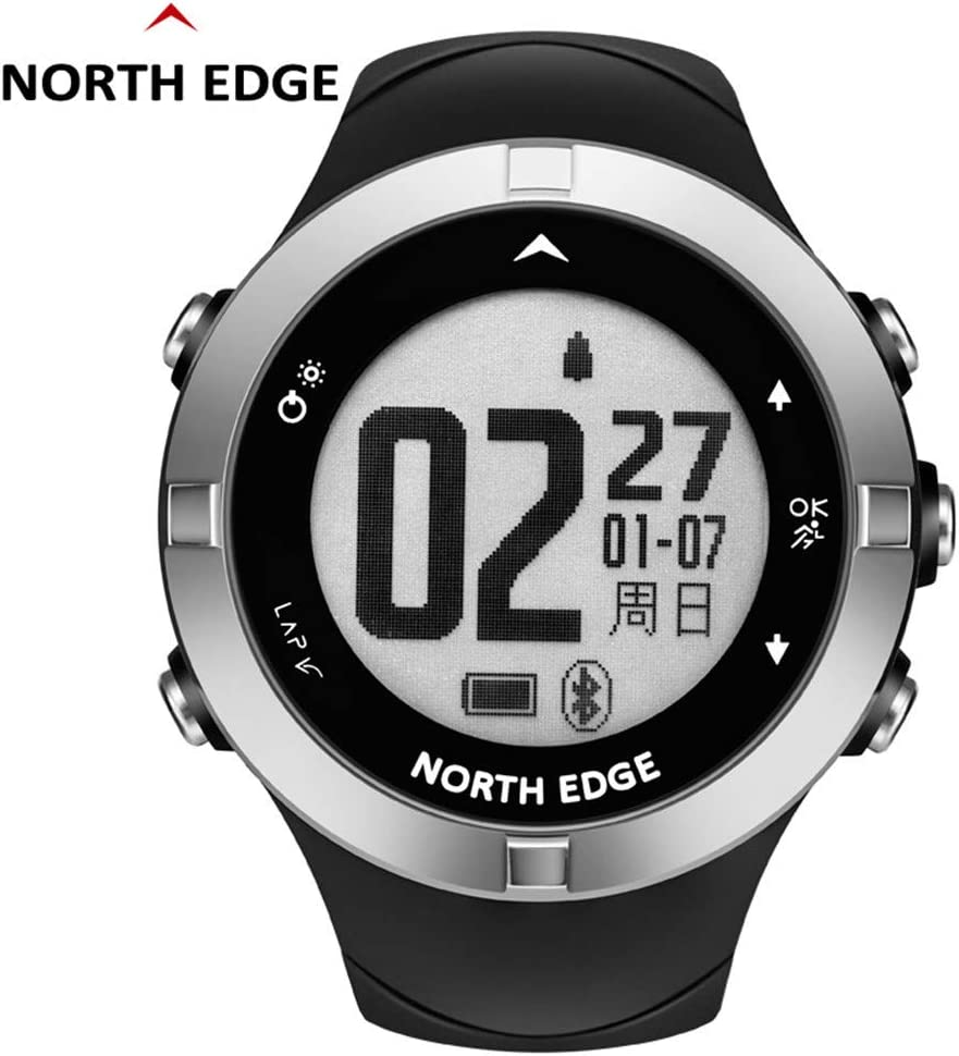 RENYAYA Reloj GPS Impermeable North Edge Hombres Relojes Deporte Militar LED Pulsera Relojes Digitales Relogio Masculino Smart Bluetooth Watch