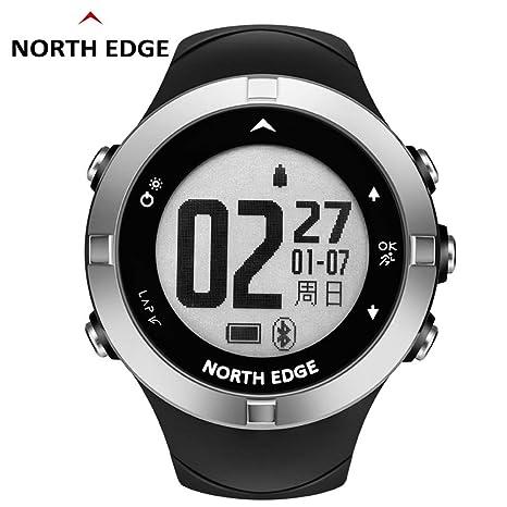 RENYAYA Reloj GPS Impermeable North Edge Hombres Relojes Deporte Militar LED Pulsera Relojes Digitales Relogio Masculino