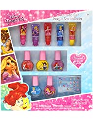 TownleyGirl Disney's Princess Super Sparkly Cosmetic Set with lip gloss, nail polish and nail stickers