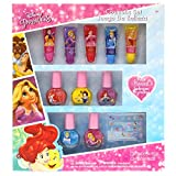 Toys : TownleyGirl Disney Themed Super Sparkly Cosmetic Set with Lip Gloss, Nail Polish and Nail Stickers (Disney Princess)