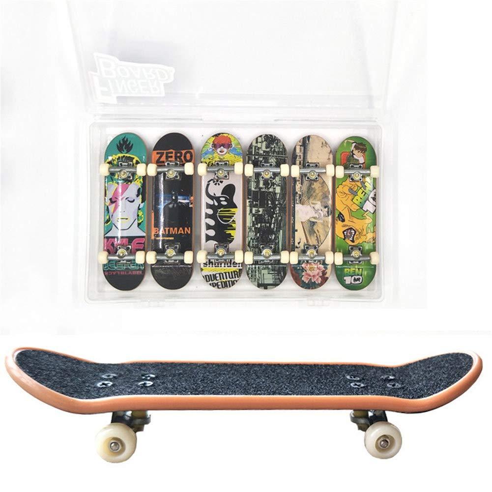 Remeehi 6PCS Matte Metal Professional Mini Fingerboards Finger Skateboard in Box