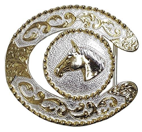 Modestone Nickel Silver Trophy Belt Buckle Horse Head 4'' X 3 1/4''
