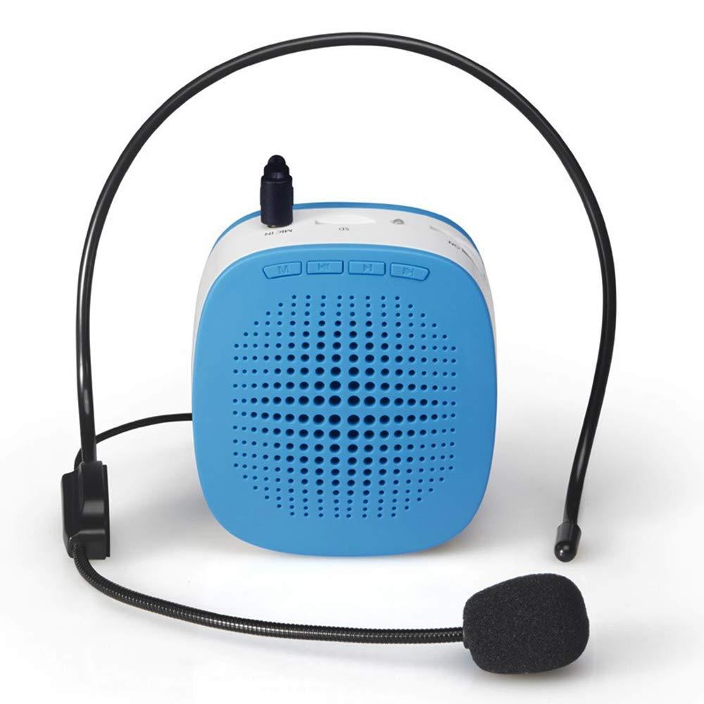 ASG Altoparlante Portatile Multifunzionale con Amplificatore vocale con Microfono cablato per Insegnante//Guida turistica con Microfono di Linea Supporta Scheda TF//Ingresso Audio