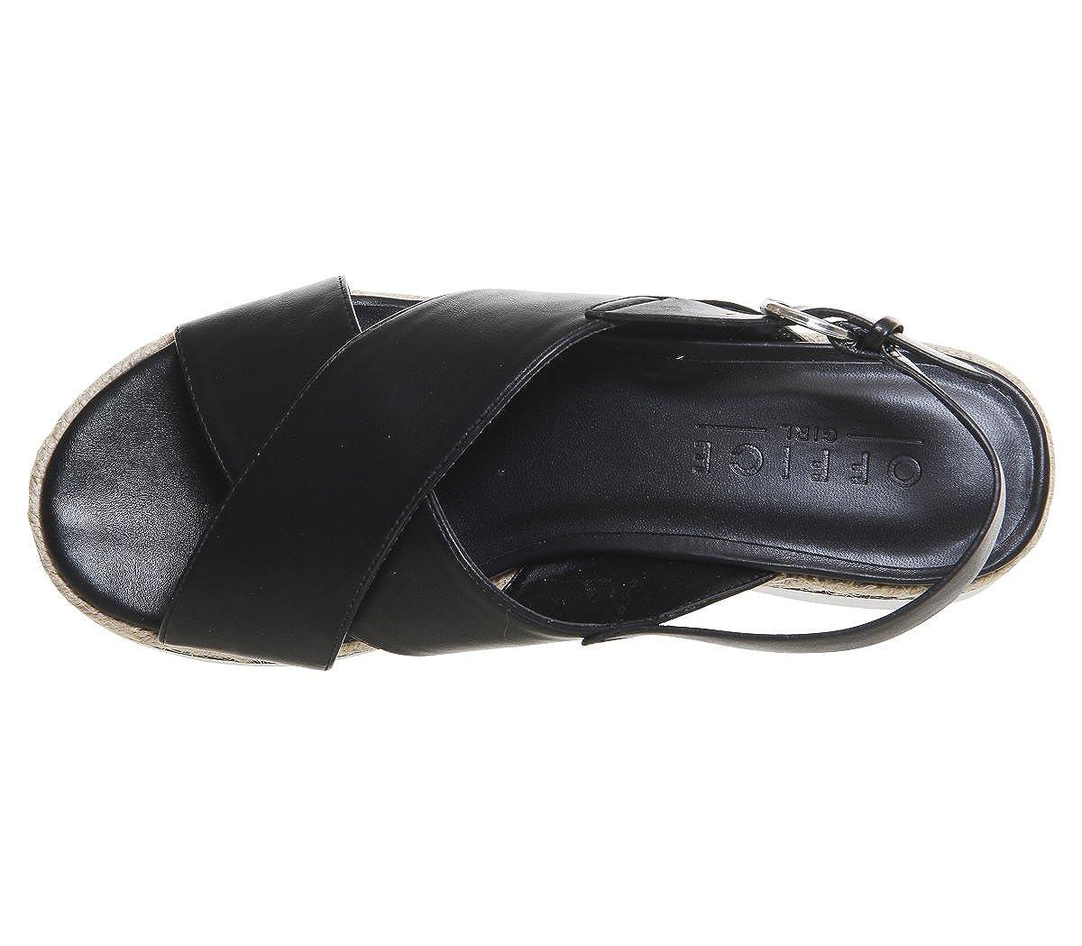 1b5b68b7b6d Office Saturn Cross Strap Espadrille Sandals Black - 4 UK  Amazon.co.uk   Shoes   Bags