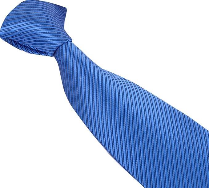 Corbata clásica con rayas para hombres, extremo en punto (01 ...
