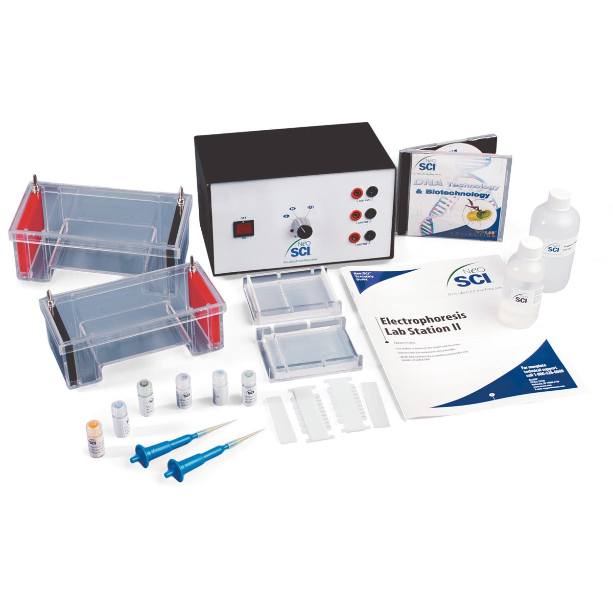 NEO SCI W55791 Electrophoresis Lab Station II ,Grade: 1 to 12 , 13'' Height, 11.5'' Wide, 17.37'' Length