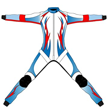 8a0e038ab147 Geek Home Skydiving Free Fly Suit White Blue Red Jumpsuit Skydive   Amazon.co.uk  Sports   Outdoors