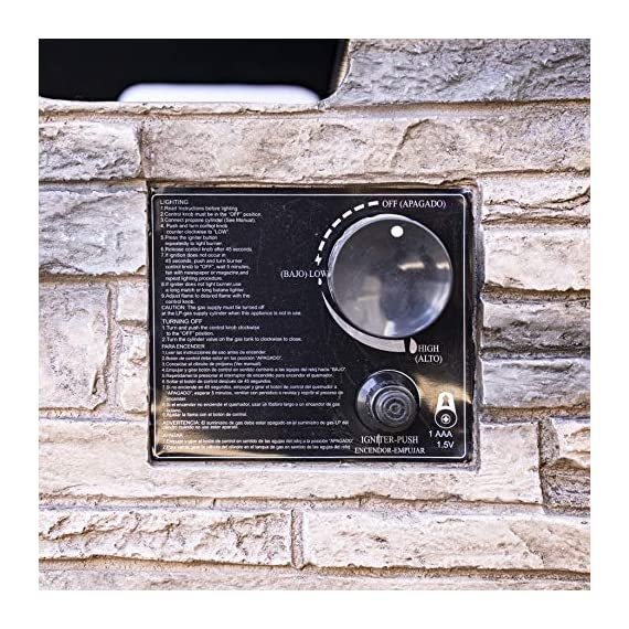 Bond Manufacturing 63172 Newcastle Propane Firebowl Column Realistic Look Firepit Heater Lava Rock 40,000 BTU Outdoor Gas Fire Pit 20 lb, Natural Stone - Make sure this fits                by entering your model number. Throw the ultimate s'mores party, host an outdoor date-night, tell spooky stories around the flame, or just enjoy a good book beside the inviting Newcastle Firebowl! 40,000 BTU heat output provides warmth and light - patio, outdoor-decor, fire-pits-outdoor-fireplaces - 61EzQW%2B04rL. SS570  -