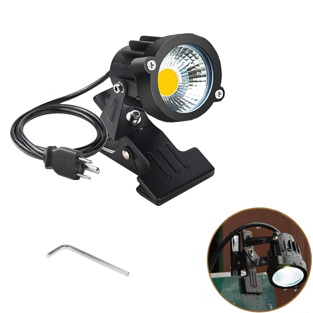 Onerbuy 1 pcs LED Clip on Light Outdoor Water Resistant Signboard Blackboard Lighting Adjustable Desk Stand Arm Lamp with Power Plug by Onerbuy (Image #2)