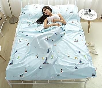 xshelley luz peso cálido roomy 100% algodón saco de dormir Liner Saco de dormir ideal