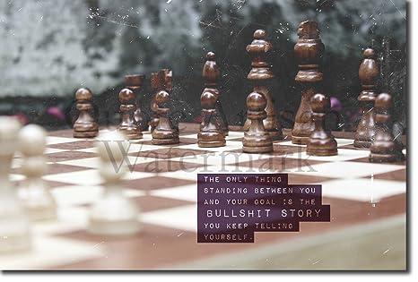 Chess Ajedrez Póster Motivacional 01 Bullsh T Story Art