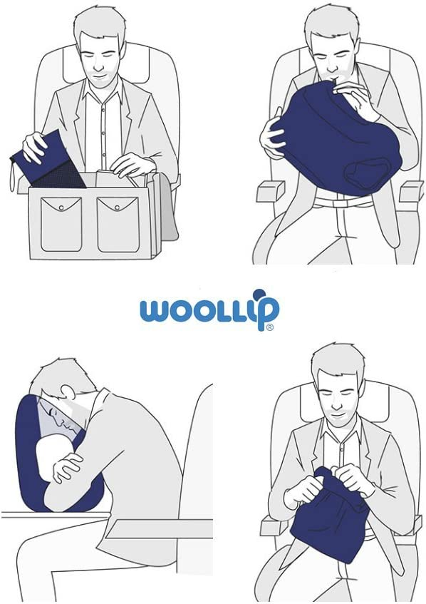 Woollip Travel Pillow blue blue: Amazon